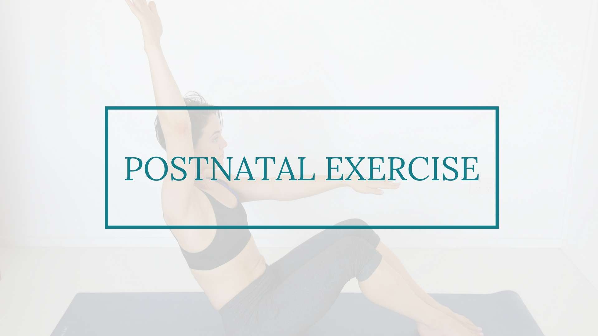 image of postnatal exercise